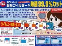 超抗菌マスク用銅布フィルターポケット付き 新製品