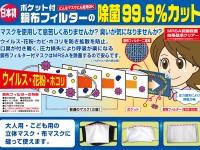 DMF-S551 マスク用除菌銅布フィルター 子供用